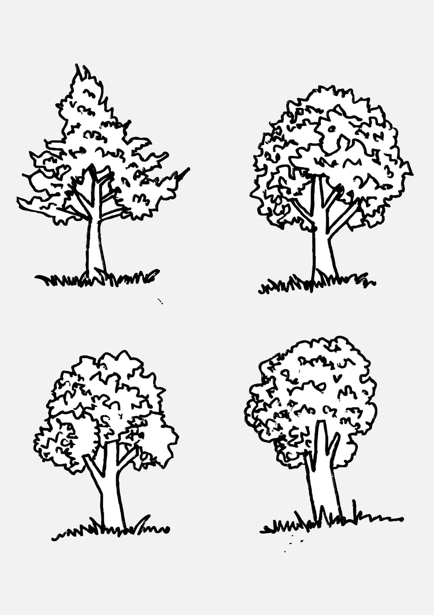 Set of trees with leaves